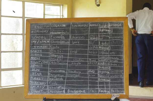Blackboard with local languages