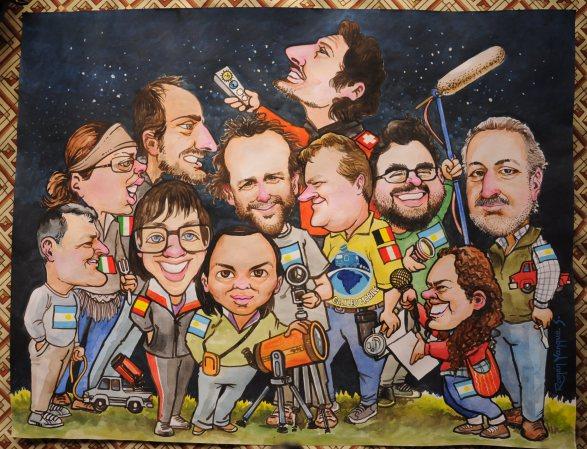 GalileoMobile Team members and collaborators caricature illustration - GalileoMobile / Roman Yanque Surco