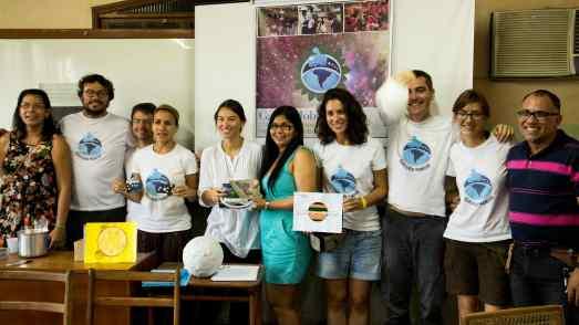 No CADV, os Galileus, os colaboradores acreanos e a diretora do CADV.