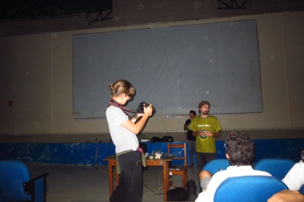 Cine-club in Cobija, Bolivia. Credits: Mayte Vasquez / GalileoMobile